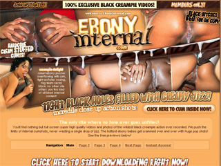 Ebony Internal - Tight Black Holes Filled With Creamy Jizz!!