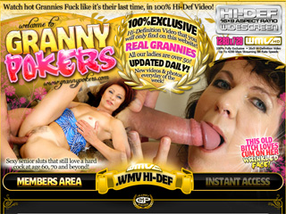 Granny Pokers - Watch hot Grannies Fuck like it's their last time, in 100% Hi-Def Video!