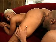 Seductive ebony fucks old white man