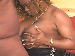Black housemaid serves horny master