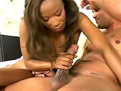 Young ebony honey pleases white men